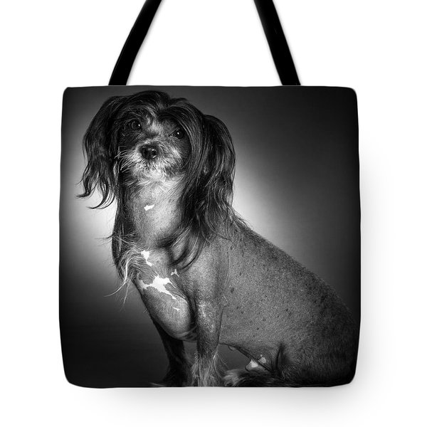 Tote Bag featuring the photograph Chinese Crested - 01 by Larry Carr