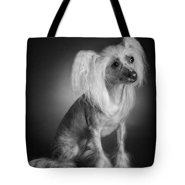 Tote Bag featuring the photograph Chinese Crested - 03 by Larry Carr
