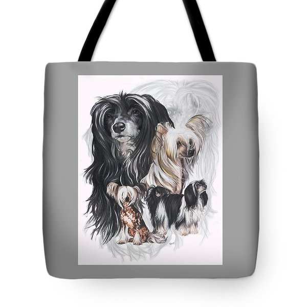 Chinese Crested And Powderpuff Medley Tote Bag