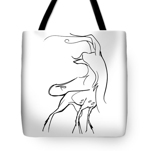 Chinese Crested Gesture Sketch Tote Bag