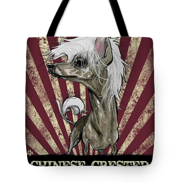 Chinese Crested Revolution Tote Bag