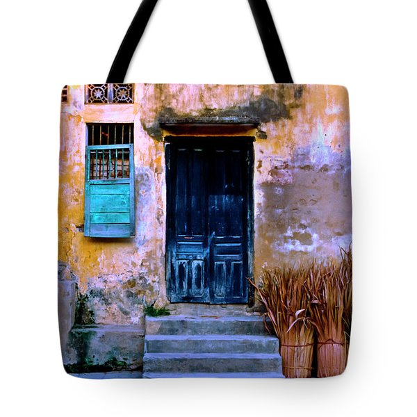 Chinese Facade Of Hoi An In Vietnam Tote Bag