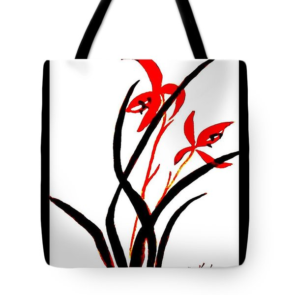 Chinese Flowers Tote Bag by Marsha Heiken