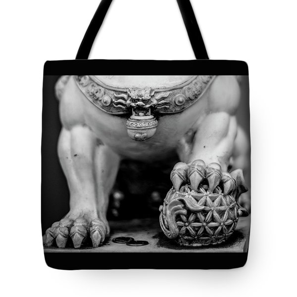 Chinese Guardian Lions Shishi Tote Bag by Silvia Bruno