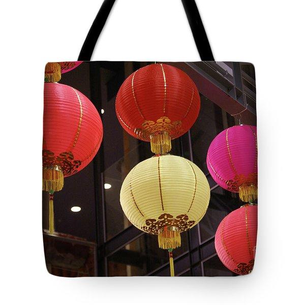 Chinese Lanterns Vancouver Chinatown Tote Bag