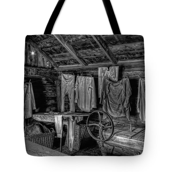 Chinese Laundry In Montana Territory Tote Bag by Daniel Hagerman
