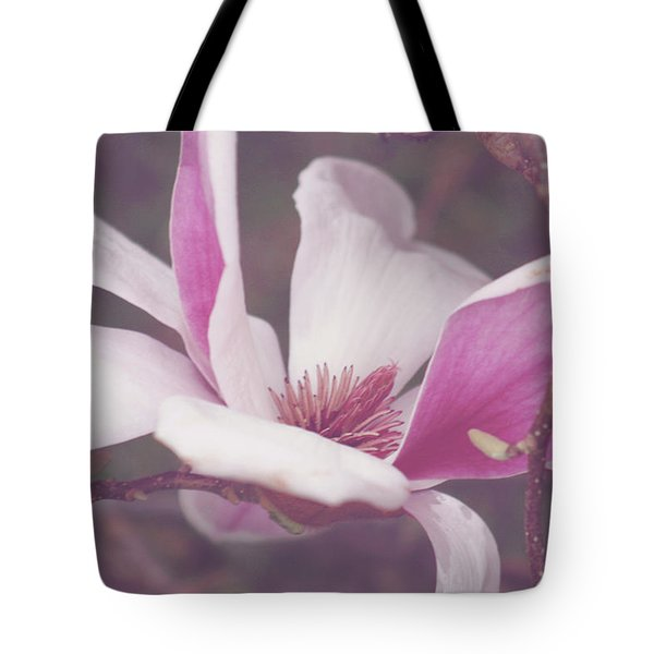 Tote Bag featuring the photograph Chinese Magnolia Bloom by Toni Hopper