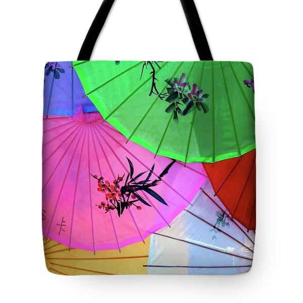 Chinese Parasols Tote Bag