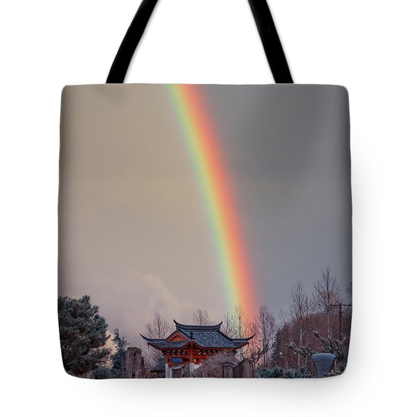 Chinese Reconciliation Park Rainbow Tote Bag