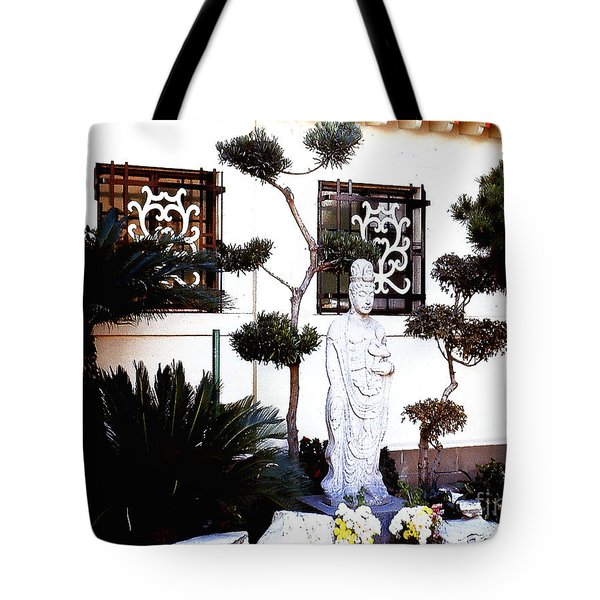Tote Bag featuring the photograph Chinese Restaurant Garden by Merton Allen