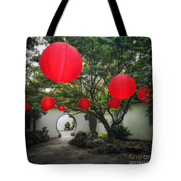 Chinese Tea Garden In Portland, Oregon Tote Bag