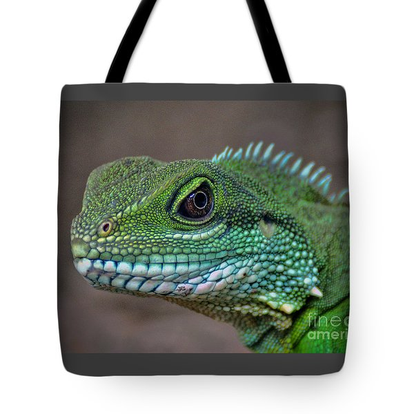 Tote Bag featuring the photograph Chinese Water Dragon by Savannah Gibbs
