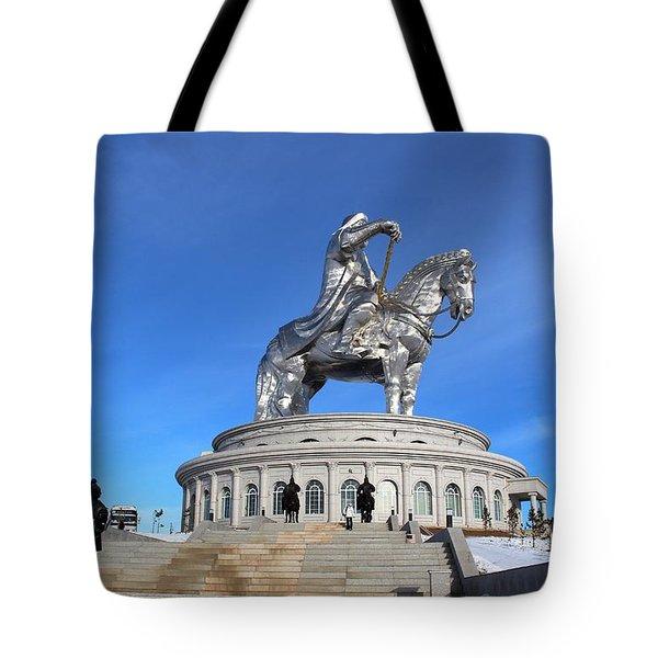 Chinggis Khan Statue/tsagaan Sar Tote Bag