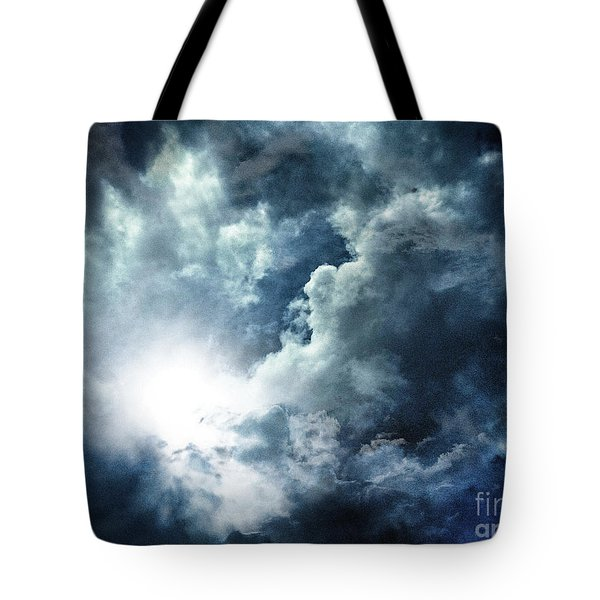 Tote Bag featuring the photograph Chink Of Light - Spiraglio Di Luce by Zedi