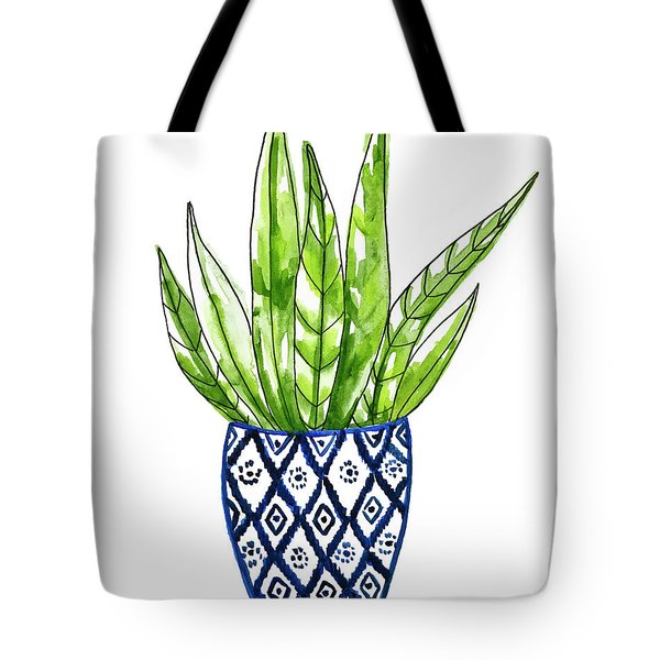 Chinoiserie Cactus No2 Tote Bag