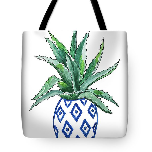 Chinoiserie Cactus Tote Bag