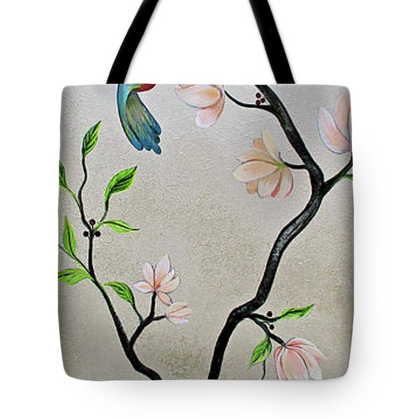 Chinoiserie - Magnolias And Birds #5 Tote Bag