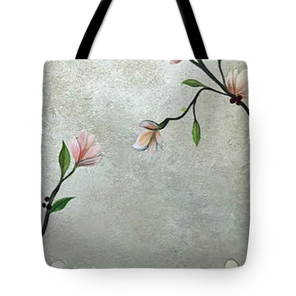 Chinoiserie - Magnolias And Birds Tote Bag