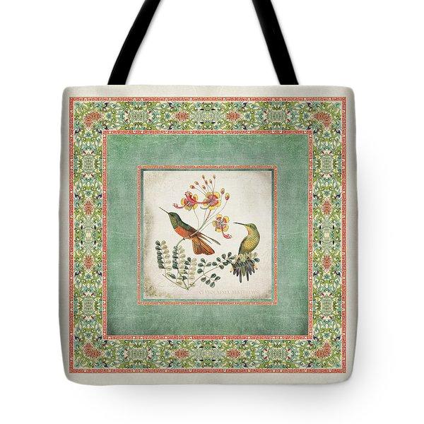 Chinoiserie Vintage Hummingbirds N Flowers 1 Tote Bag
