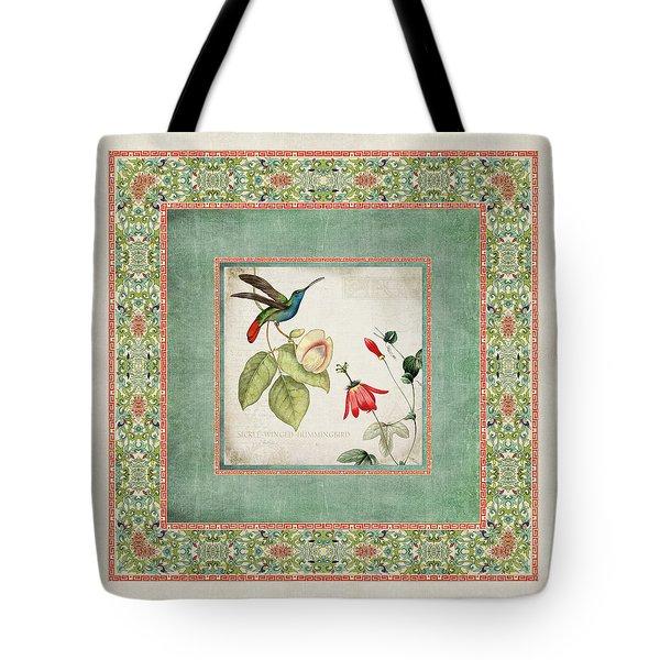 Chinoiserie Vintage Hummingbirds N Flowers 2 Tote Bag