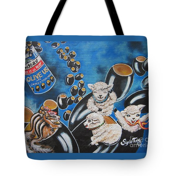 Chip And Dip In Space Olives Tote Bag