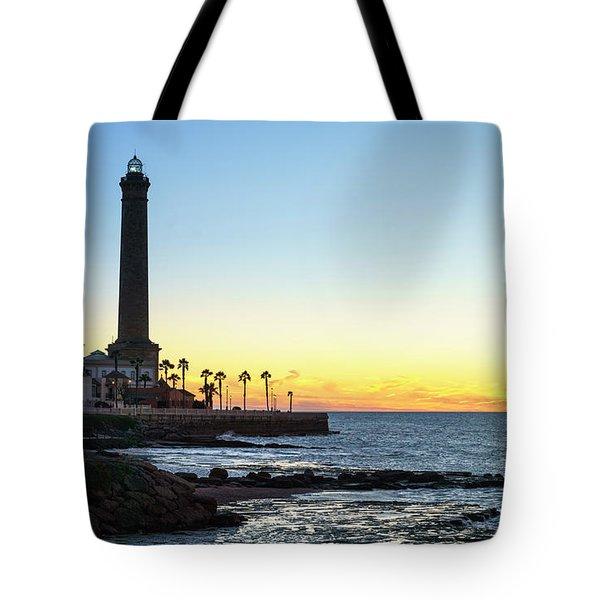Chipiona Lighthouse Cadiz Spain Tote Bag
