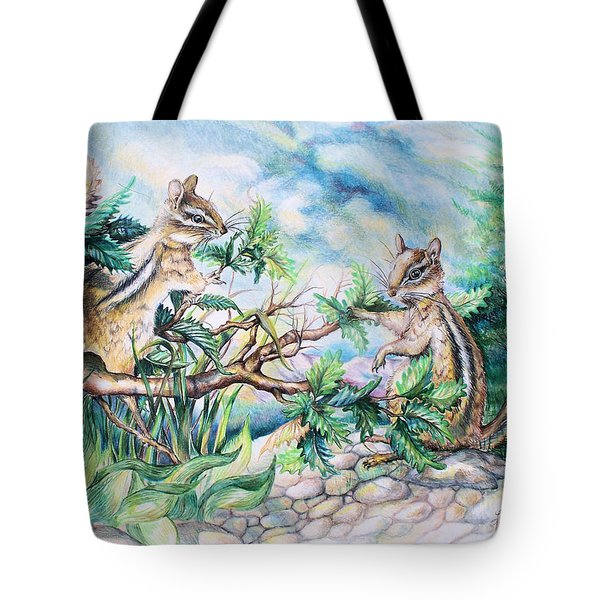 Chipmunk Tote Bag