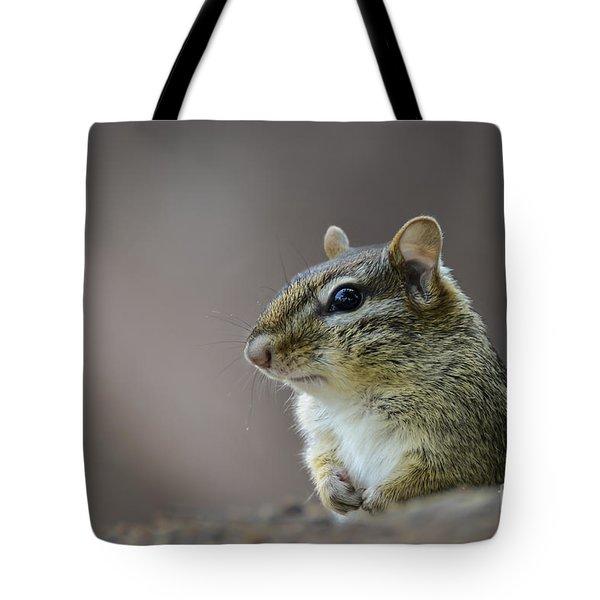 Chipmunk Profile Tote Bag