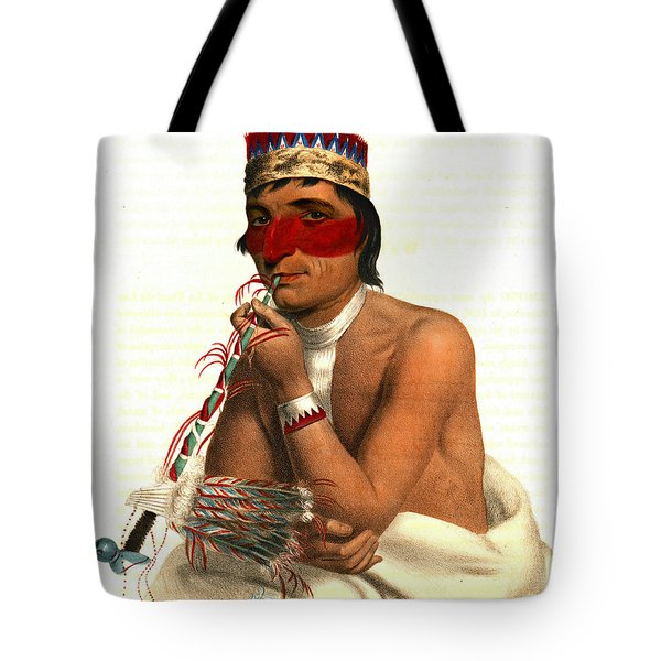 Tote Bag featuring the photograph Chippeway Chief 1836 by Padre Art