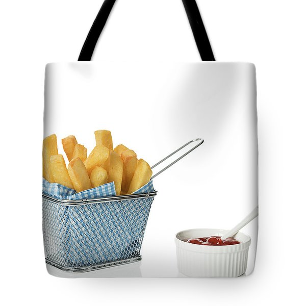 Chips With Tomato Sauce Tote Bag