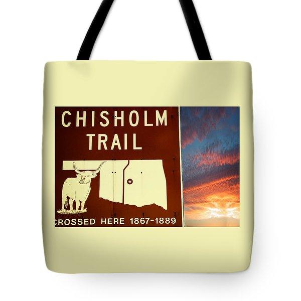 Chisholm Trail Oklahoma Tote Bag