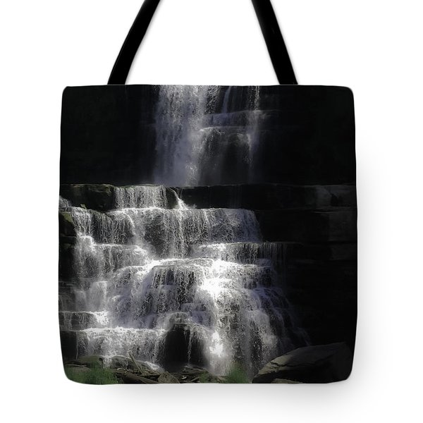 Chittenango Falls Tote Bag by DigiArt Diaries by Vicky B Fuller