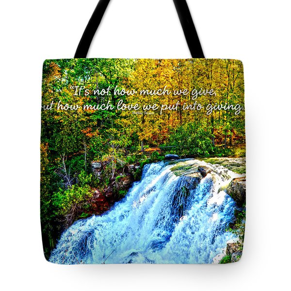 Tote Bag featuring the photograph Chittenango Falls, Ny Mother Teresa  by Diane E Berry