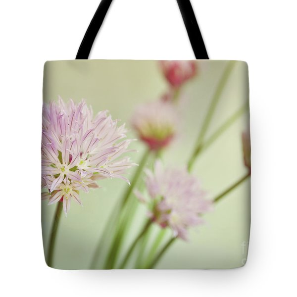 Tote Bag featuring the photograph Chives In Flower by Lyn Randle
