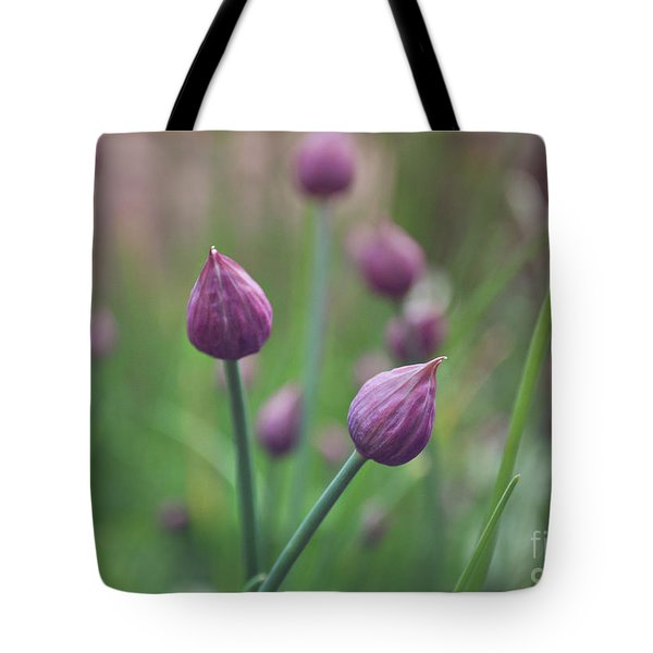 Tote Bag featuring the photograph Chives by Lyn Randle