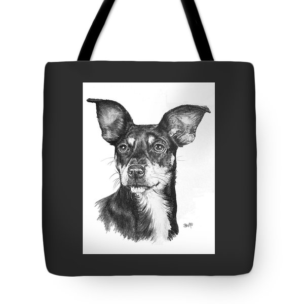 Chiweenie Tote Bag by Barbara Keith