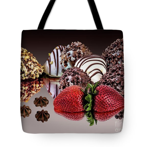 Chocolate And Strawberries Tote Bag