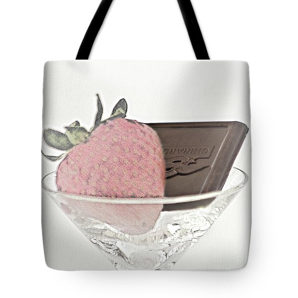 Chocolate And Strawberry Martini Tote Bag
