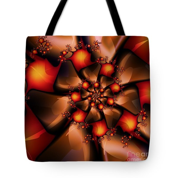 Tote Bag featuring the digital art Chocolate Berry Burst by Michelle H