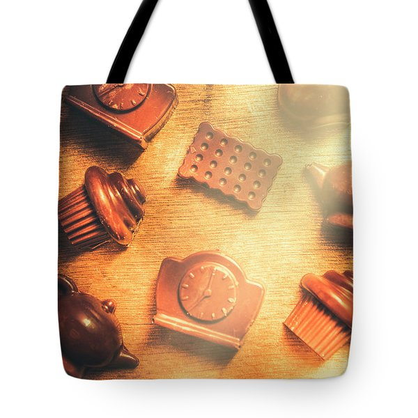 Chocolate Cafe Background Tote Bag