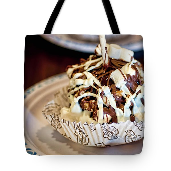 Chocolate Caramel Apple Tote Bag