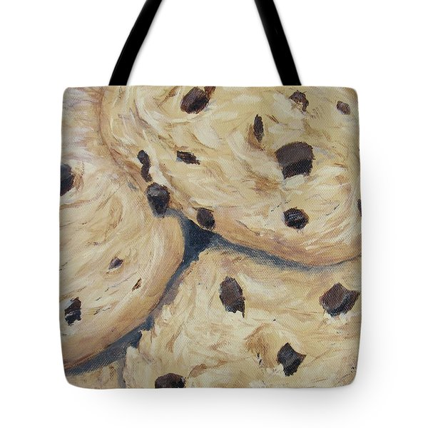 Tote Bag featuring the painting Chocolate Chip Cookies by Nancy Nale