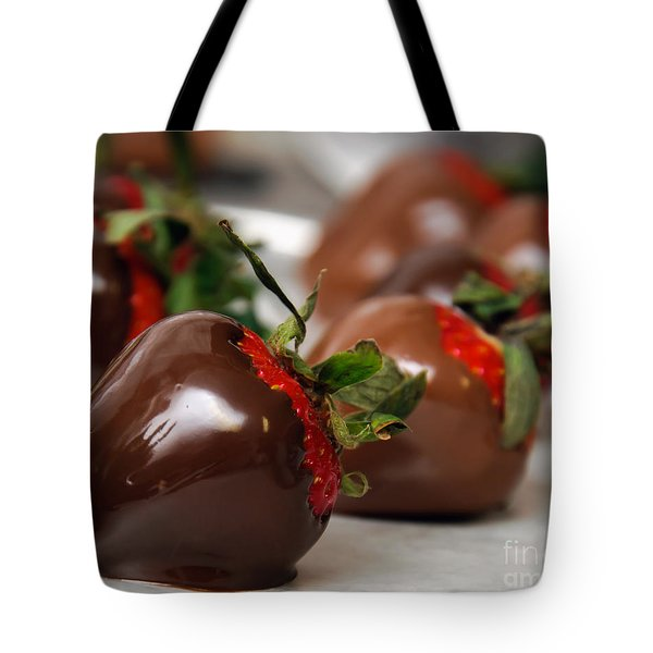 Chocolate Covered Strawberries 2 Tote Bag by Andee Design