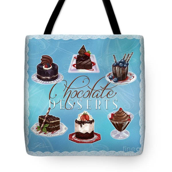 Chocolate Desserts Tote Bag