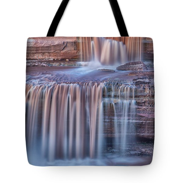 Chocolate Swirls Tote Bag by Tom Kelly