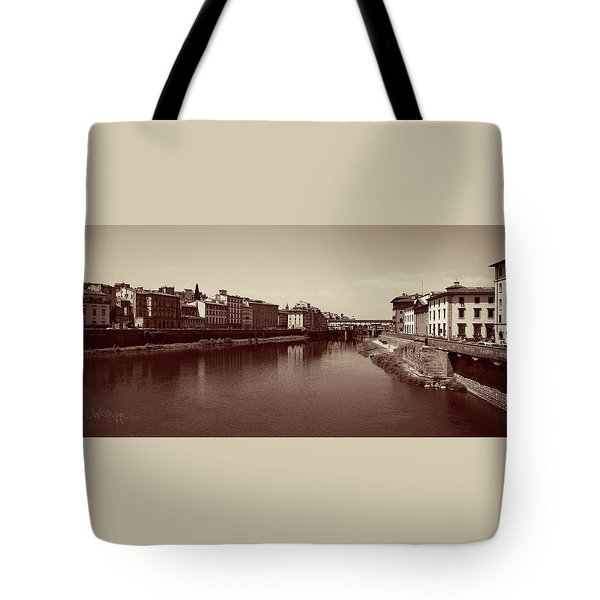 Chocolate Florence Tote Bag by Joseph Westrupp