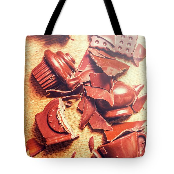 Chocolate Tableware Destruction Tote Bag