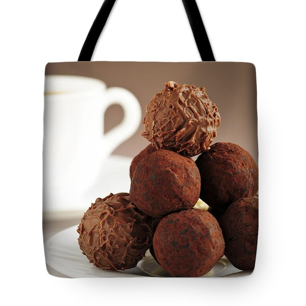 Chocolate Truffles And Coffee Tote Bag by Elena Elisseeva