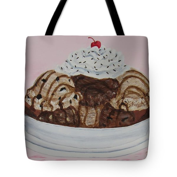 Tote Bag featuring the painting Chocolatey Brownie Sundae by Nancy Nale
