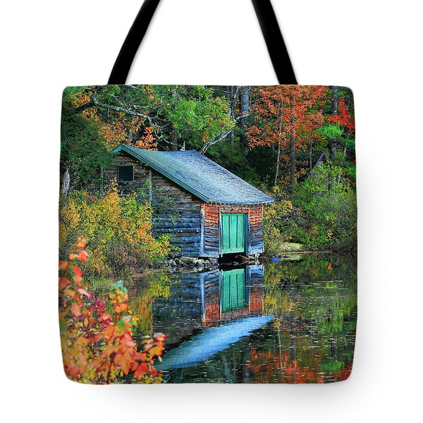 Chocorua Boathouse Tote Bag